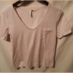 BANANA REPUBLIC TOP WOMENS M - Pink Cotton T-Shirt
